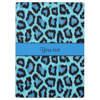 青いヒョウのプリント クリップボード