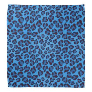 青いヒョウの質パターン ハンカチ