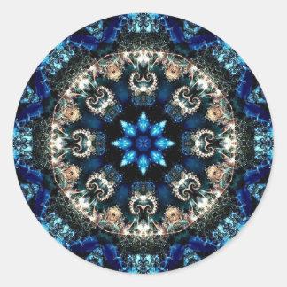 青いビロード 丸形シール・ステッカー