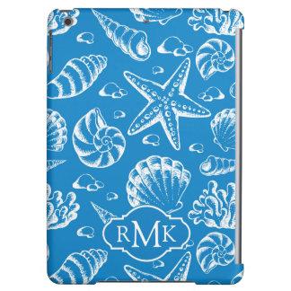 青いビーチパターン|モノグラム