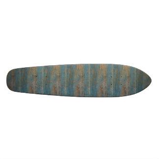 青いビーチ木質 スケートボード