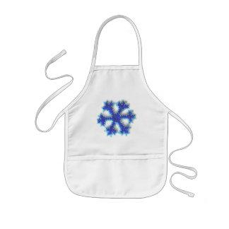 青いビードの雪片 子供用エプロン