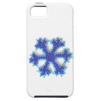 青いビードの雪片 iPhone SE/5/5s ケース