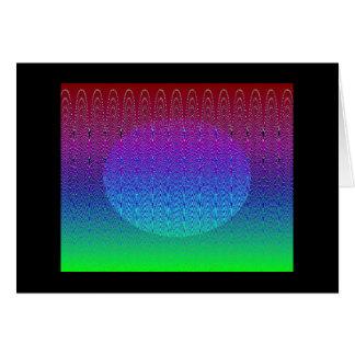 青いピクセル日没#2 (カード) カード