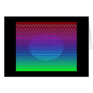 青いピクセル日没#5 (カード) カード