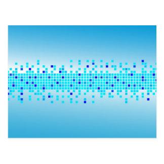 青いピクセル ポストカード