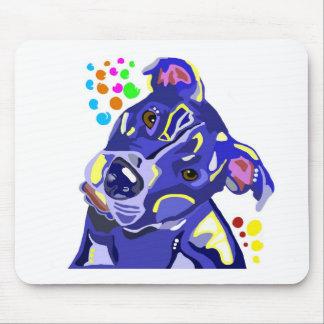 青いピット・ブルテリアのマウスパッド マウスパッド