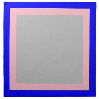 青いピンクおよび銀色のナプキン ナプキンクロス