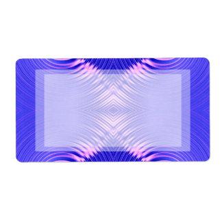 青いピンクのさざ波 ラベル