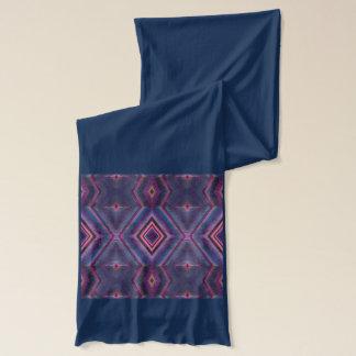 青いピンクのダイヤモンドの抽象芸術 スカーフ