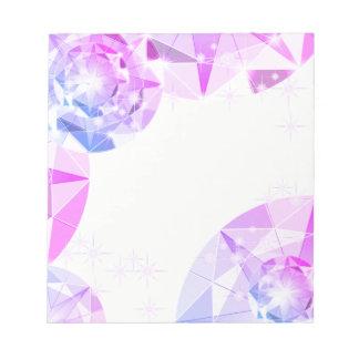 青いピンクの宝石用原石のコンパスのラインストーンの一見 ノートパッド