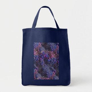 青いピンクの紫色の抽象芸術の泡細胞 トートバッグ