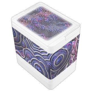 青いピンクの紫色の抽象芸術の泡細胞 IGLOOクーラーボックス