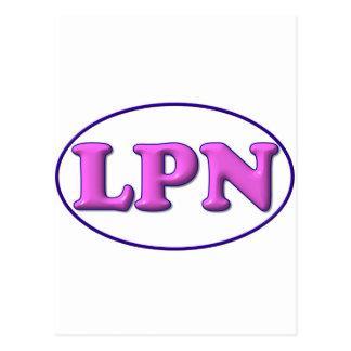 青いピンクLPN ポストカード