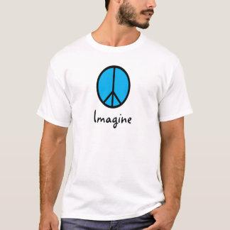 青いピースマークを想像して下さい Tシャツ
