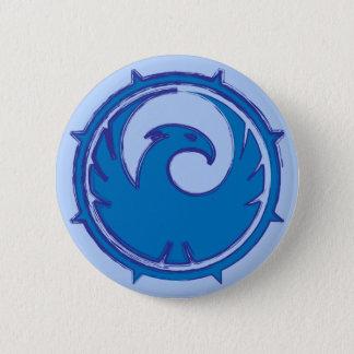 青いフェニックスの鳥の紋章のバッジ 5.7CM 丸型バッジ