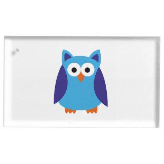 青いフクロウの漫画 テーブルカードホルダー