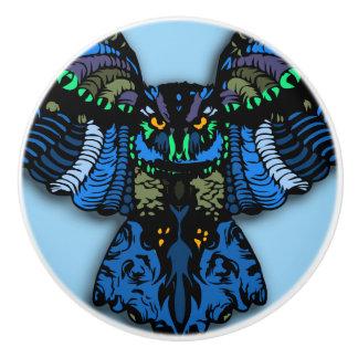 青いフクロウ セラミックノブ