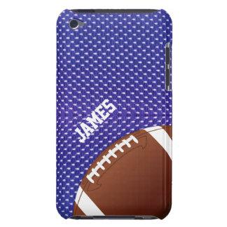 青いフットボールのカスタムなipod touchの場合 Case-Mate iPod touch ケース