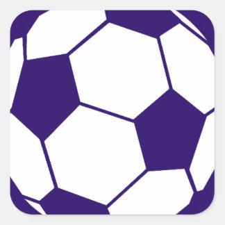 青いフットボールのデザイン スクエアシール
