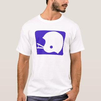 青いフットボールのロゴ Tシャツ