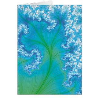 青いフラクタルの木 カード
