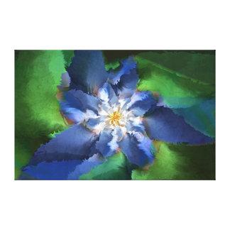 青いフラクタルの花 キャンバスプリント