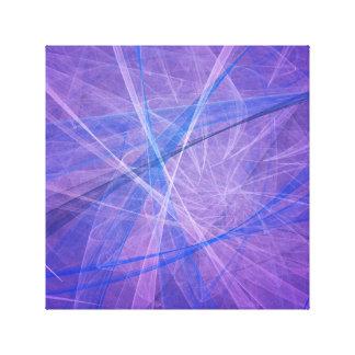 青いフラクタル キャンバスプリント