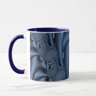 青いフラクタル マグカップ
