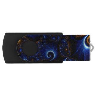 青いフラクタルUSB USBフラッシュドライブ