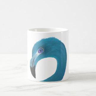 青いフラミンゴの芸術 コーヒーマグカップ