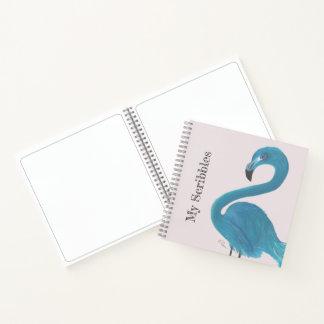 青いフラミンゴの芸術 ノートブック