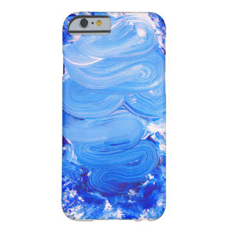 青いブラシの打撃のiPhoneの箱 Barely There iPhone 6 ケース