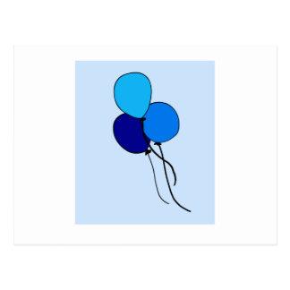 青いブランデーグラス ポストカード