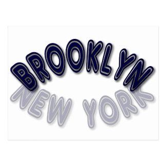青いブルックリンニューヨーク ポストカード