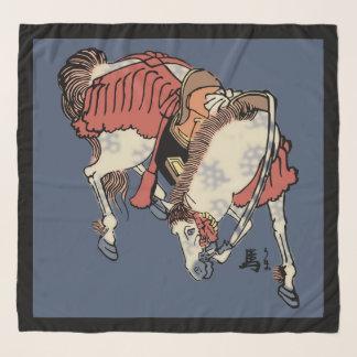 青いブルー・ジーンズのヴィンテージの日本のな馬 スカーフ