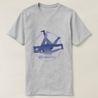 青いブレイクダンスの基本的な灰色 Tシャツ