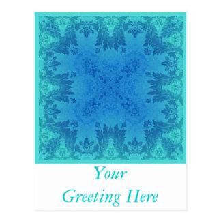 青いブロケード ポストカード