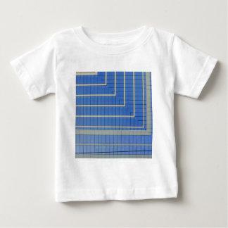 青いブロック4 ベビーTシャツ