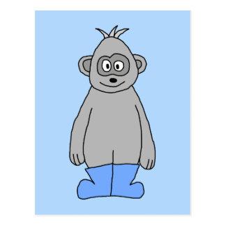 青いブーツのゴリラ ポストカード