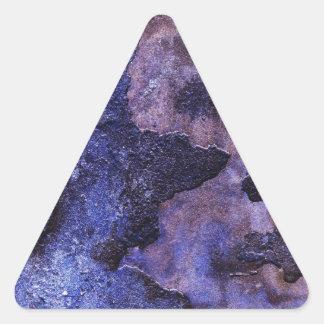 青いプラスター 三角形シール