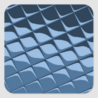 青いプラスチックタイル スクエアシール