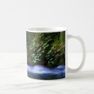 青いプールのアートワークの塩の入り江 コーヒーマグカップ
