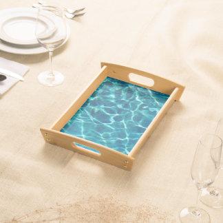 青いプール水 トレー