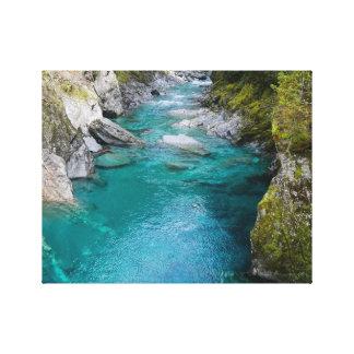 青いプール、ニュージーランド キャンバスプリント