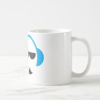 青いヘッドホーンのマグ コーヒーマグカップ