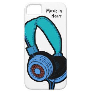 青いヘッドホーン iPhone SE/5/5s ケース