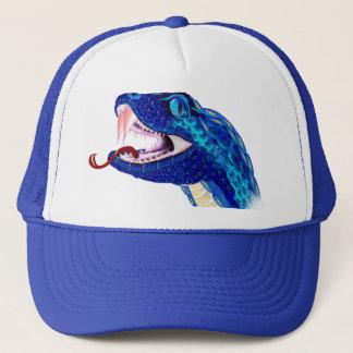 青いヘビの頭部 キャップ