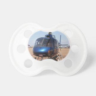 青いヘリコプター おしゃぶり