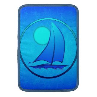 青いベクトルヨット MacBook スリーブ